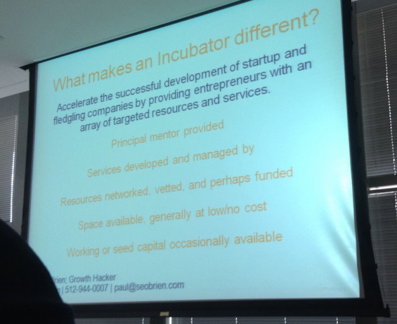 Incubator Coworking Space Differences - photo thanks to Michael Kennedy